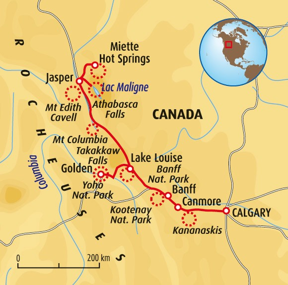 Carte Canada Les Rocheuses.Canada Rocheuses Ivando